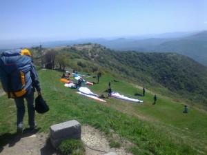 il decollo del Monte Caio (foto di Riccardo Passoli)
